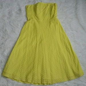 J Crew Yellow Strapless Dress